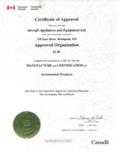 TCA Certificate of Approval